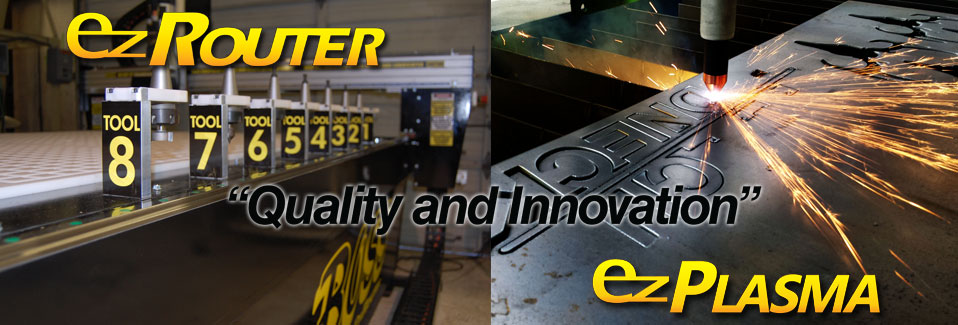 CNC Routers and CNC Plasma Cutters by EZ Router