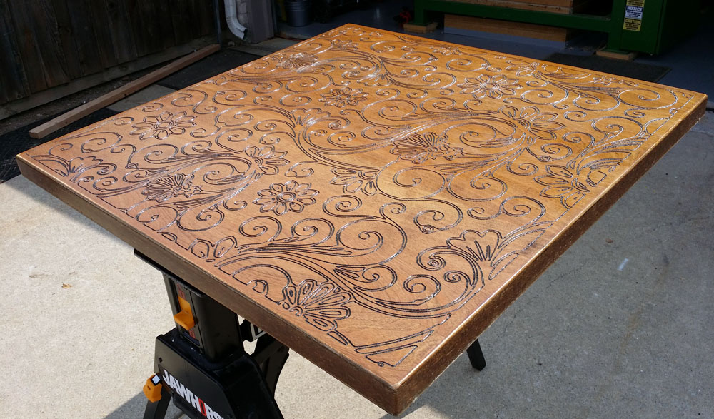cnc routed table top e